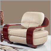 Global Furniture USA A230 Leather Match Chair in Cappuccino