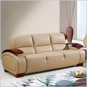 Global Furniture USA A223 Bonded Leather Sofa in Cappuccino