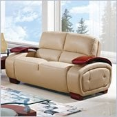 Global Furniture USA A223 Bonded Leather Loveseat in Cappuccino