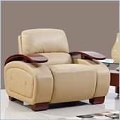 Global Furniture USA A223 Bonded Leather Chair in Cappuccino