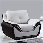Global Furniture USA 3250 Bonded Leather Chair in Grey/Black