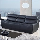 Global Furniture USA 3730 Leather Sofa in Black