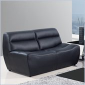 Global Furniture USA 3730 Leather Loveseat in Black