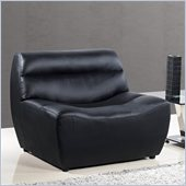 Global Furniture USA 3730 Leather Chair in Black