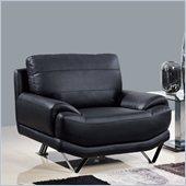 Global Furniture USA 4030 Leather Chair in Black