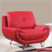 Global Furniture USA 4120 Leather Chair in Red