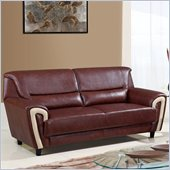 Global Furniture USA 4180 Sofa in Brown/Cappuccino