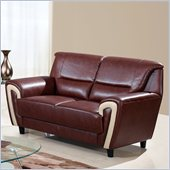 Global Furniture USA 4180 Loveseat in Brown/Cappuccino