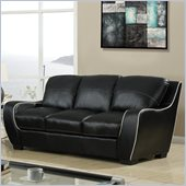 Global Furniture USA 8080 Sofa in Black with White Welt