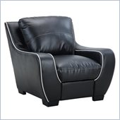 Global Furniture USA 8080 Chair in Black with White Welt