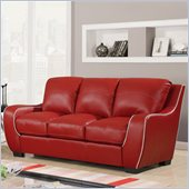 Global Furniture USA 8080 Sofa in Red with White Welt