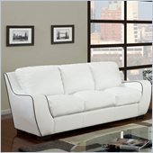 Global Furniture USA 8080 Sofa in White with Black Welt