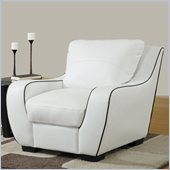 Global Furniture USA 8080 Chair in White with Black Welt