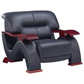Global Furniture USA 2033 Chair in Black Bonded Leather