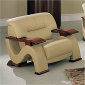 Global Furniture USA 2033 Chair in Cappuccino Bonded Leather