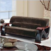 Global Furniture USA 2033 Sofa in Champion Chocolate/Brown PVC