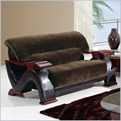 Global Furniture USA 2033 Loveseat in Champion Chocolate/Brown PVC
