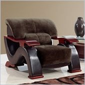 Global Furniture USA 2033 Chair in Champion Chocolate/Brown PVC