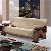 Global Furniture USA 2033 Sofa in Champion Froth/Light Brown PVC