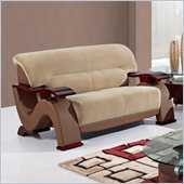 Global Furniture USA 2033 Loveseat in Champion Froth/Light Brown PVC