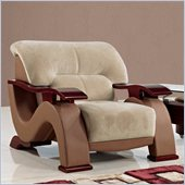 Global Furniture USA 2033 Chair in Champion Froth/Light Brown PVC