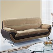 Global Furniture USA 4160 Sofa in Champion Froth/Chocolate Leather