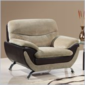 Global Furniture USA 4160 Chair in Champion Froth/Chocolate Leather