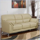 Global Furniture USA 9103 PVC Sofa in Cappuccino/Chrome Legs