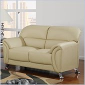 Global Furniture USA 9103 PVC Loveseat in Cappuccino/Chrome Legs