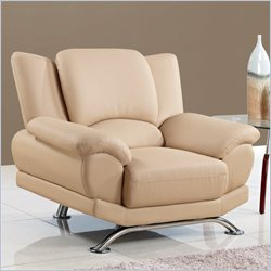 Global Furniture USA 9908 Chair in Cappuccino With Chrome Legs