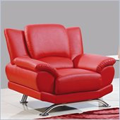 Global Furniture USA 9908 Chair in Red With Chrome Legs