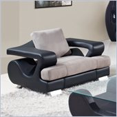 Global Furniture USA 7208 Chair in Grey Fabric / Black Pu