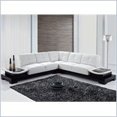 Global Furniture USA 778 3 Piece Sectional in White