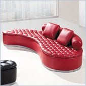 Global Furniture USA A005 Sofa in Red with Red Pillows