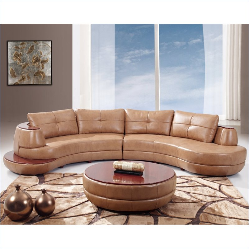 918 2 Piece Sectional in Honey