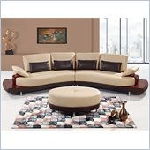 Global Furniture USA A131 2 Piece Sectional in Cappuccino and Brown