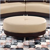 Global Furniture USA A131 Ottoman in Cappuccino and Dark Brown