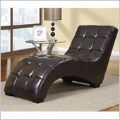 Global Furniture USA R2000 Chaise in Chocolate Brown PU