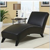 Global Furniture USA R1999 Chaise in Black PU