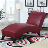 Global Furniture USA R1999 Chaise Red in Red PU