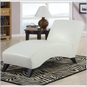 Global Furniture USA R1999 Chaise in White PU