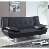 Global Furniture USA SB012 Convertible Sofa in Black PVC