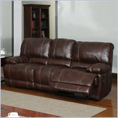 Global Furniture USA 1953 Recliner Sofa in Brown Leather
