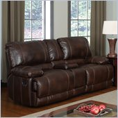 Global Furniture USA 1953 Reclining Loveseat in Brown Leather