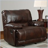 Global Furniture USA 1953 Glider Recliner Chair in Brown Leather