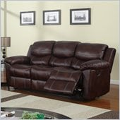 Global Furniture USA 2128 Reclining Sofa in Brown Microfiber