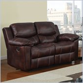 Global Furniture USA 2128 Reclining Loveseat in Brown Microfiber