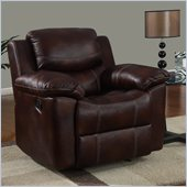 Global Furniture USA 2128 Rocker Recliner Chair in Brown Microfiber