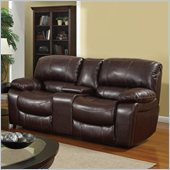 Global Furniture USA 8122 Console Reclining Loveseat in Burgundy Leather