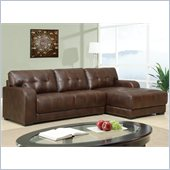 Global Furniture USA 11927 2 Piece Sectional in Brown Leather